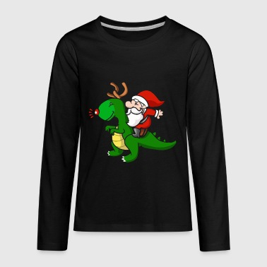 Santa Claus Dino Christmas - Kids' Premium Long Sleeve T-Shirt