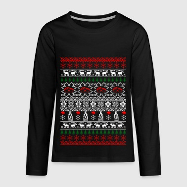 Optician Ophthalmologist Ugly Christmas Sweater - Kids' Premium Long Sleeve T-Shirt