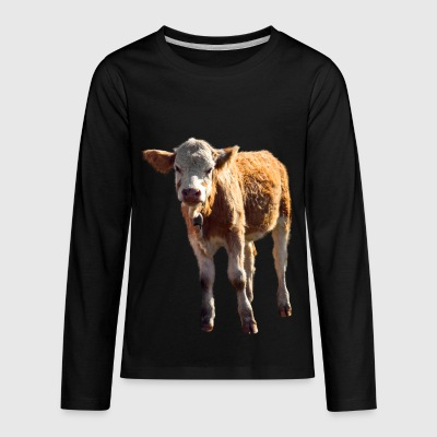 cow kuh calf kalb rind beef - Kids' Premium Long Sleeve T-Shirt