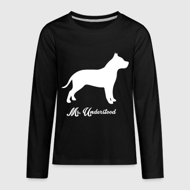 Pit Bull Dog Gift - Kids' Premium Long Sleeve T-Shirt