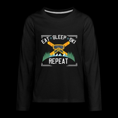 Eat Sleep Ski Repeat - Kids' Premium Long Sleeve T-Shirt