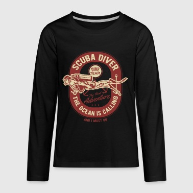 Scuba diver T-Shirt - diving, dive, ocean - Kids' Premium Long Sleeve T-Shirt