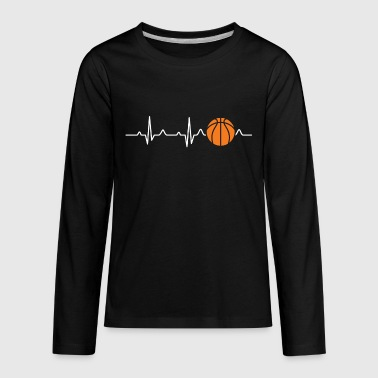 Basketball Heartbeat - Kids' Premium Long Sleeve T-Shirt