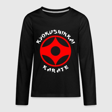 kyokushin karate Japan logo - Kids' Premium Long Sleeve T-Shirt