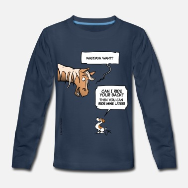 Funny Horse A Decent Proposal - Kids' Premium Longsleeve Shirt