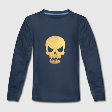 Gold Skull - Kids' Premium Long Sleeve T-Shirt