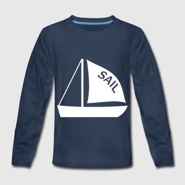 Sail Boat - Kids' Premium Long Sleeve T-Shirt