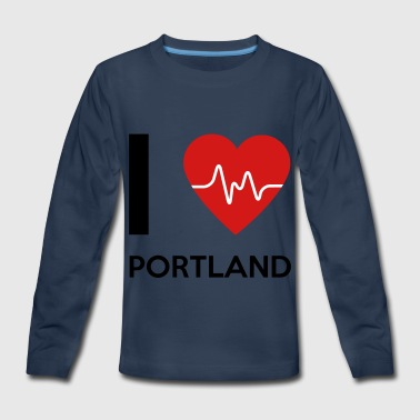 I Love Portland - Kids' Premium Long Sleeve T-Shirt