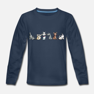 Funny Dog Funny Dogs - Dog - Cartoon - Gift - Pets - Present - Kids' Premium Longsleeve Shirt