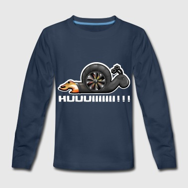 Racing Snail Racing Snail with Turbo - Kids' Premium Long Sleeve T-Shirt