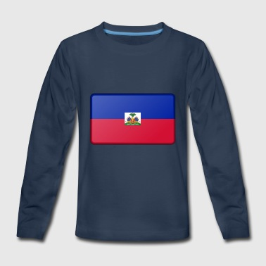 Haiti Flag - Kids' Premium Long Sleeve T-Shirt