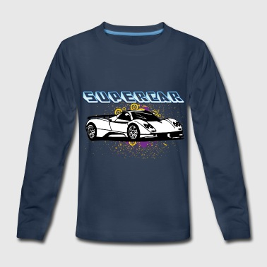Supercar_white - Kids' Premium Long Sleeve T-Shirt