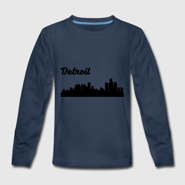 Detroit Mi Detroit MI Skyline - Kids' Premium Long Sleeve T-Shirt