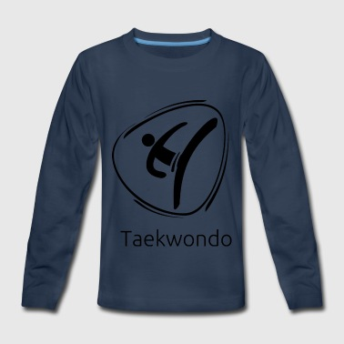 Taekwondo_black - Kids' Premium Long Sleeve T-Shirt