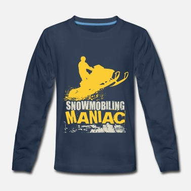 Polaris Snowmobile Snowmobiling Maniac - Kids' Premium Long Sleeve T-Shirt