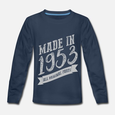 1953 VT207_ Made in 1953 all o - Kids' Premium Long Sleeve T-Shirt