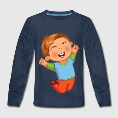 Jump Kids & Jumping Kid - Kids' Premium Long Sleeve T-Shirt