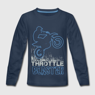 Dirt Bike Throttle Blast - Kids' Premium Long Sleeve T-Shirt