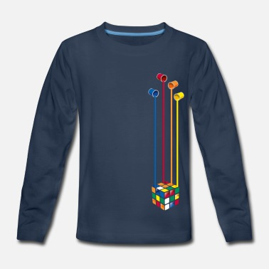 Cube Paint Cube - Kids' Premium Long Sleeve T-Shirt
