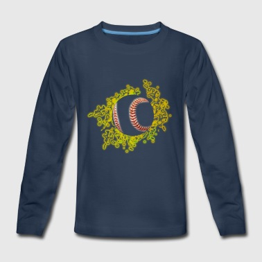 softball blazing fire - Kids' Premium Long Sleeve T-Shirt
