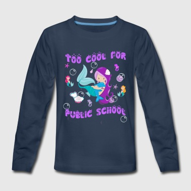 Homeschool / Funny Gift for Homeschool Girls - Kids' Premium Long Sleeve T-Shirt