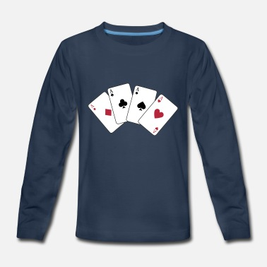 Poker Card Game, Poker, Ace - Kids' Premium Long Sleeve T-Shirt