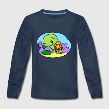 Tiny Turtle - Kids' Premium Long Sleeve T-Shirt