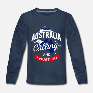 Great Barrier Reef Australia Work Travel Kangaroo Kangaroos Sydney - Kids' Premium Long Sleeve T-Shirt