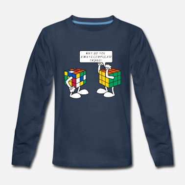 Cube Rubik's Cube Complicate Things - Kids' Premium Long Sleeve T-Shirt