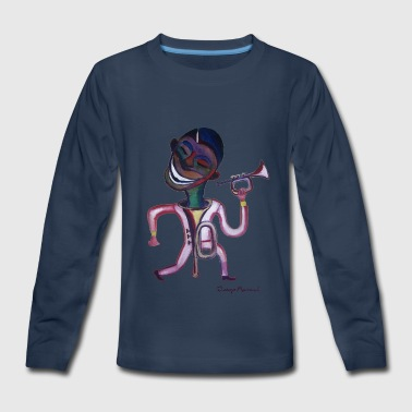 Risa de trompeta - Kids' Premium Long Sleeve T-Shirt
