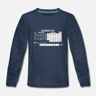 Winery Periodic Table Of Wine T Shirt Gift - Kids' Premium Long Sleeve T-Shirt