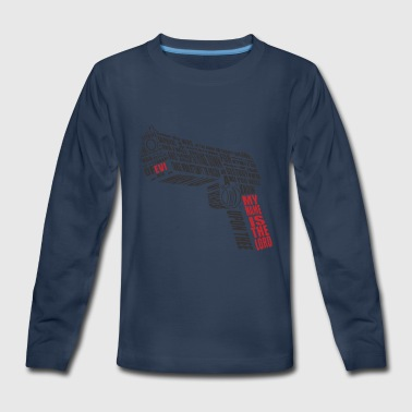 weapon with text - Kids' Premium Long Sleeve T-Shirt