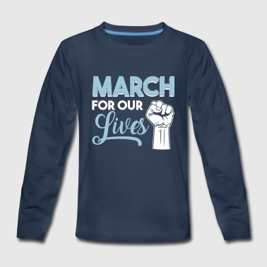 March For Our Lives End Gun Violence March - Kids' Premium Long Sleeve T-Shirt