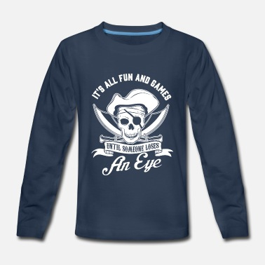 Pirate Captain Pirate Day Pirates Boat Captain Boating Motorboat - Kids' Premium Long Sleeve T-Shirt