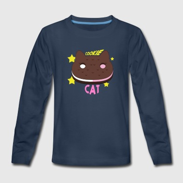 cookie cat - Kids' Premium Long Sleeve T-Shirt