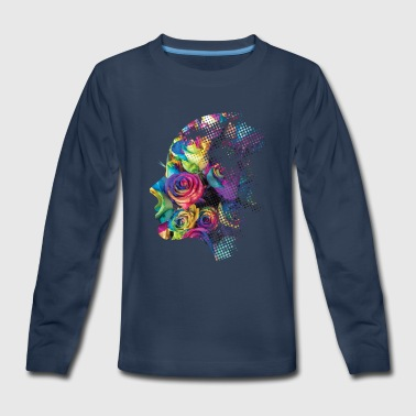 Face of Roses - Kids' Premium Long Sleeve T-Shirt