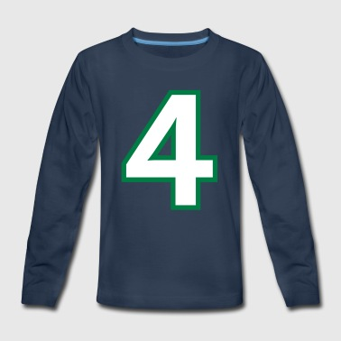 Sport Number 4 Four - Kids' Premium Long Sleeve T-Shirt