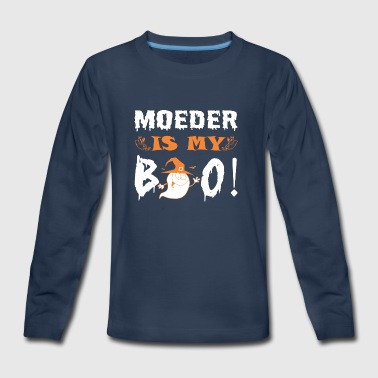 Moeder Is My Boo Happy Halloween - Kids' Premium Long Sleeve T-Shirt