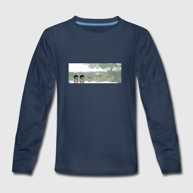 kinkaku temple-kyoto - Kids' Premium Long Sleeve T-Shirt