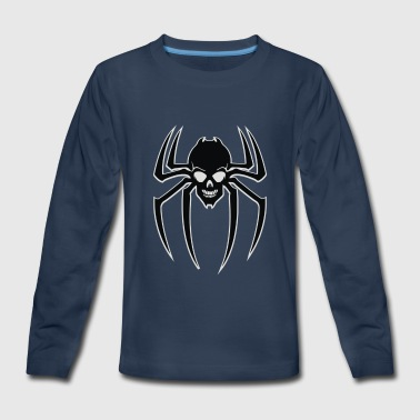 Spider Skull - Kids' Premium Long Sleeve T-Shirt