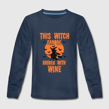 WINE WITCH - Kids' Premium Long Sleeve T-Shirt