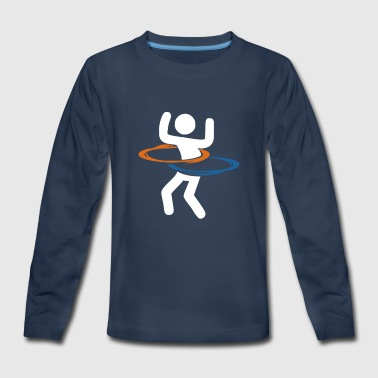 Portal Hula Hooping With Portals - Kids' Premium Long Sleeve T-Shirt