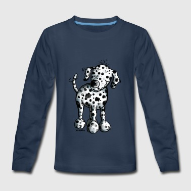 Cute Dalmatian - Dog - Dogs - Gift - Puppy - Kids' Premium Long Sleeve T-Shirt