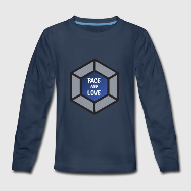 Pace and love - Kids' Premium Long Sleeve T-Shirt