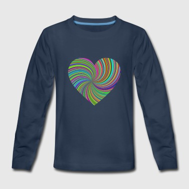 Sixties Heart - Kids' Premium Long Sleeve T-Shirt