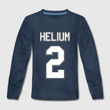 Helium Element Periodic Table - Kids' Premium Long Sleeve T-Shirt