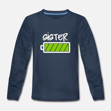 Battery Family Sister battery full battery full-family-baby sis - Kids' Premium Longsleeve Shirt