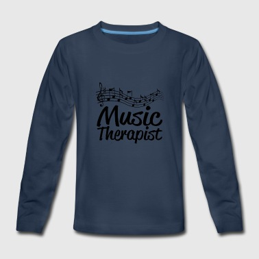 04 music therapist copy - Kids' Premium Long Sleeve T-Shirt