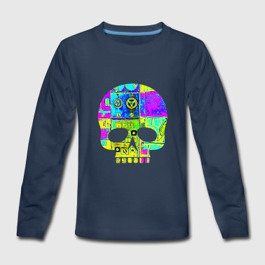 skull abstract - Kids' Premium Long Sleeve T-Shirt