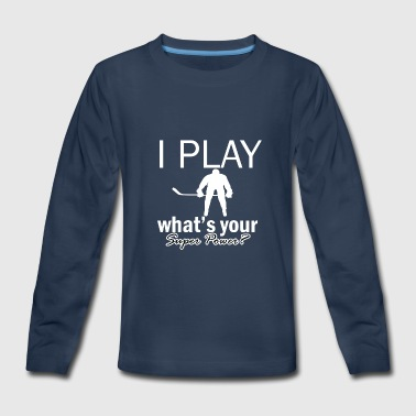 ice hockey design - Kids' Premium Long Sleeve T-Shirt